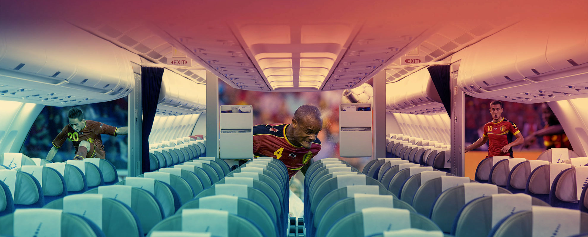 Belgium team aircraft interior decoration