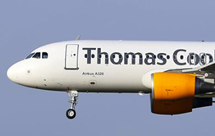 Thomas Cook Aircraft livery BCO Aviation, aircraft livery, branding products, adhesive film, technical markings, headrest covers, interior exterior