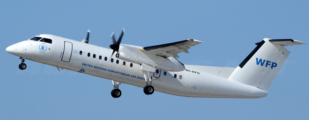 Illustration for: BCO Aviation turns DHC-8 into WFP colours
