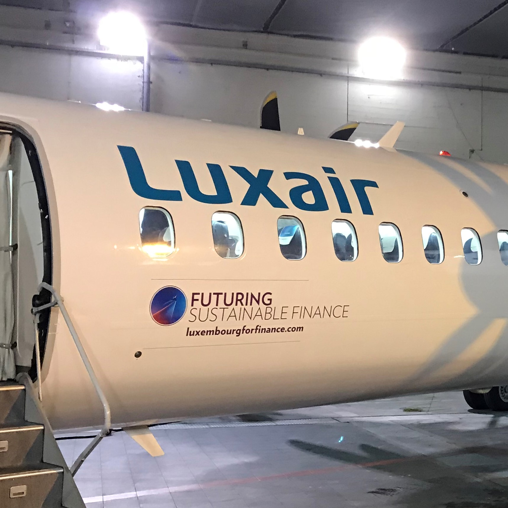 Illustration of: Luxair and Luxembourg For Finance branded by BCO