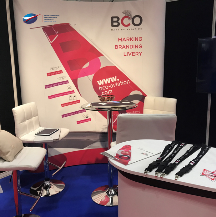 Illustration of: BCO Aviation exhibits at the International Paris Air Show