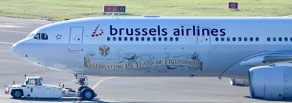 Illustration for: Another Tomorrowland external livery for Brussels Airlines