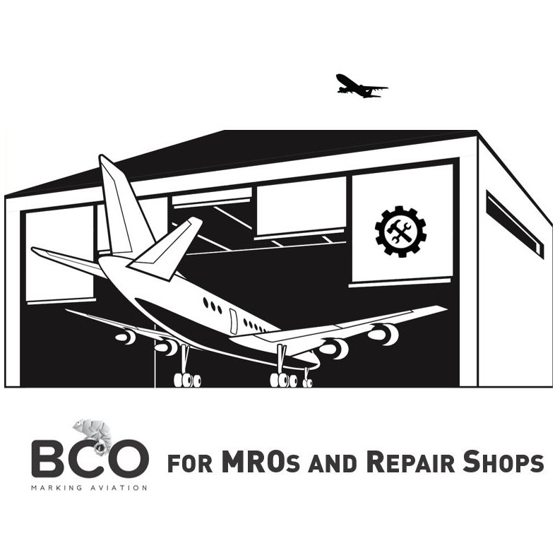 Illustration of: Aviation adhesive films products for MROs and Repair shops