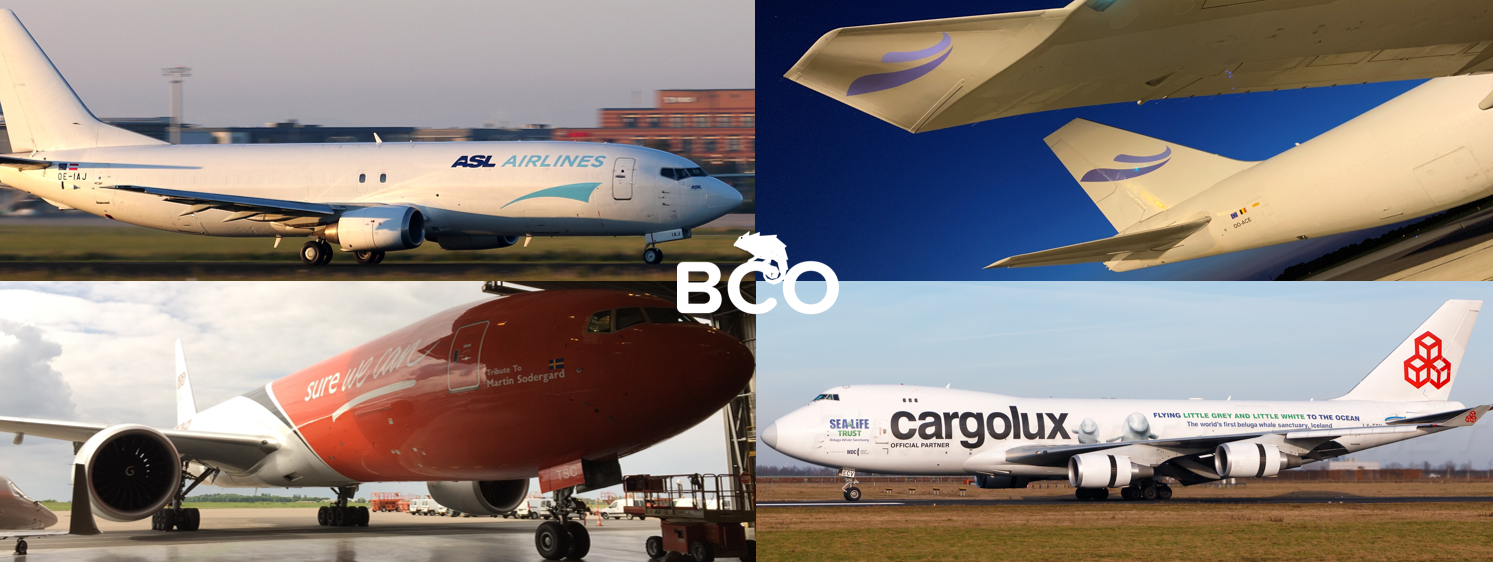 Illustration for: Aircraft livery and decals for airfreight carriers