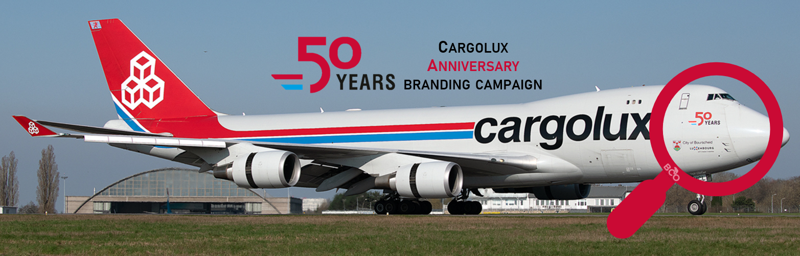 "Illustration for: Cargolux ""50 years"" branding campaign"