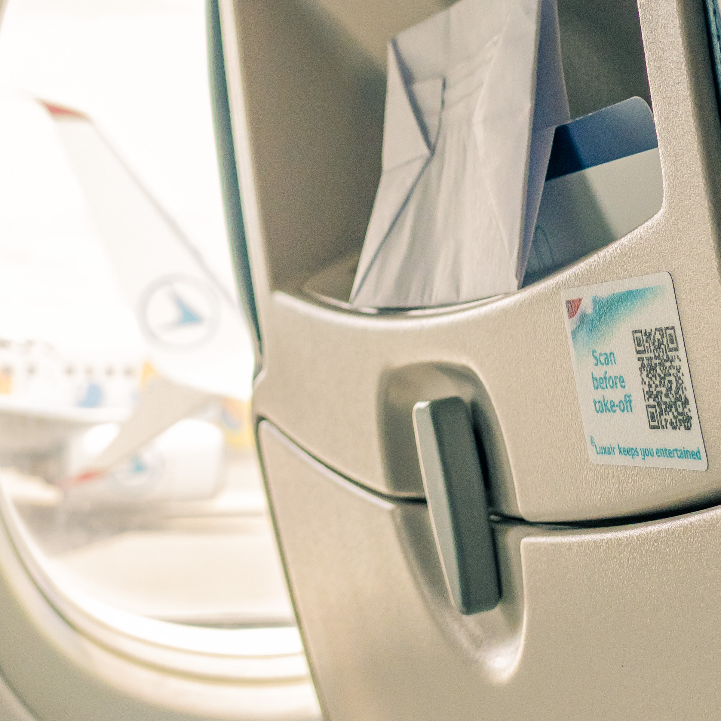 Illustration of: Certified QR Code stickers on seats