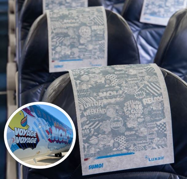 Illustration of: 100.000 Headrest covers for special cabin branding