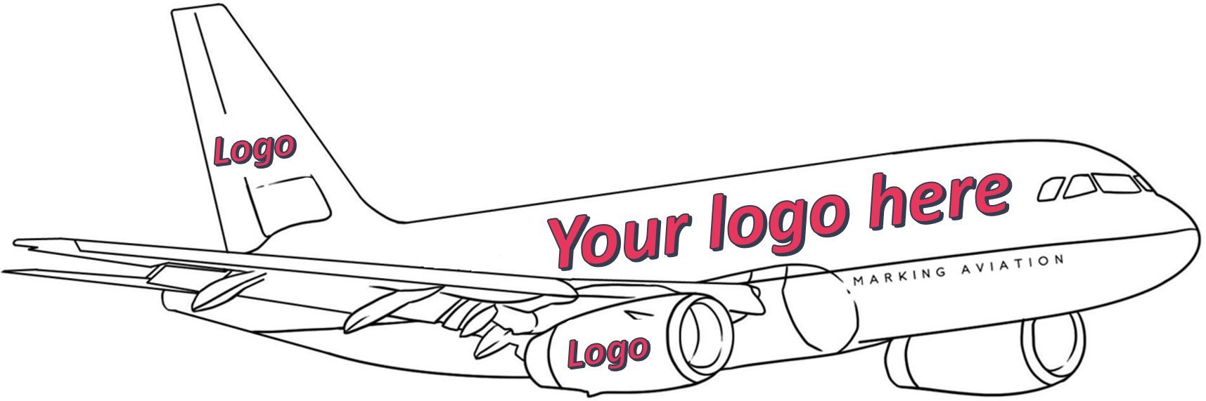 Aircraft branding with my logo and any brand