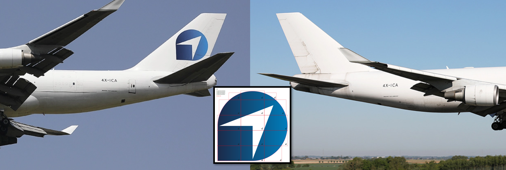 Illustration for: B747-400 freighter vertical fin decals for Challenge Group
