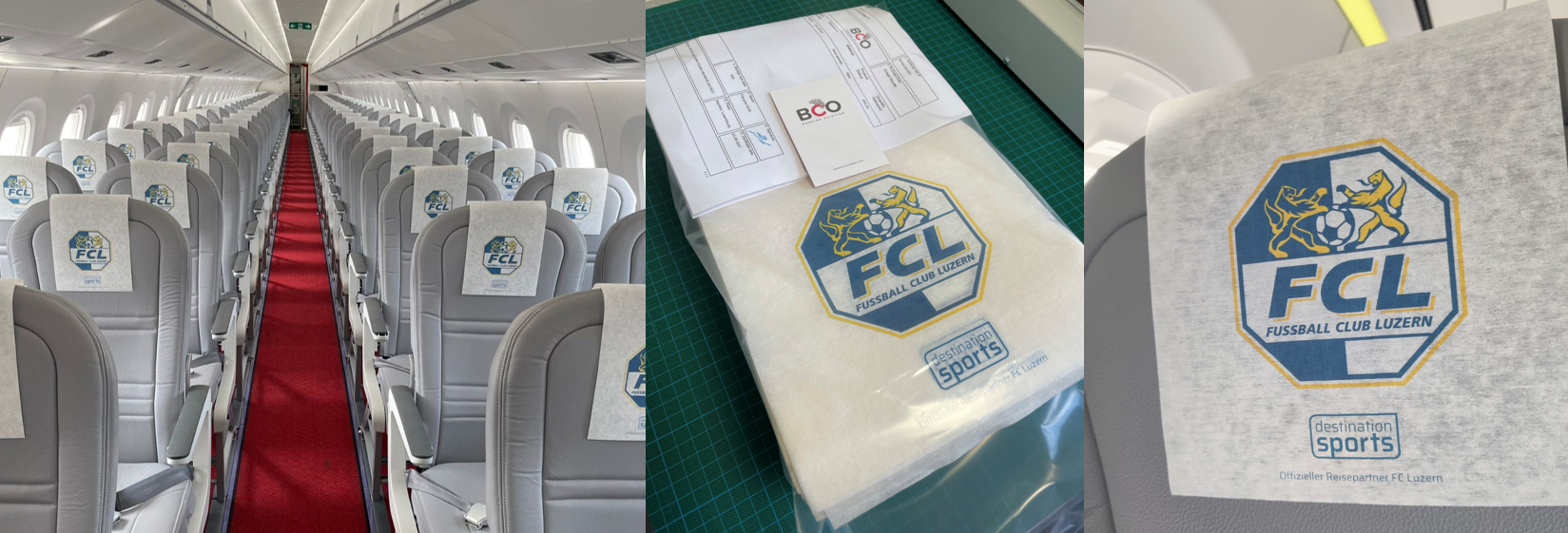 Illustration for: Personalize sport team charter flights with printed goodies
