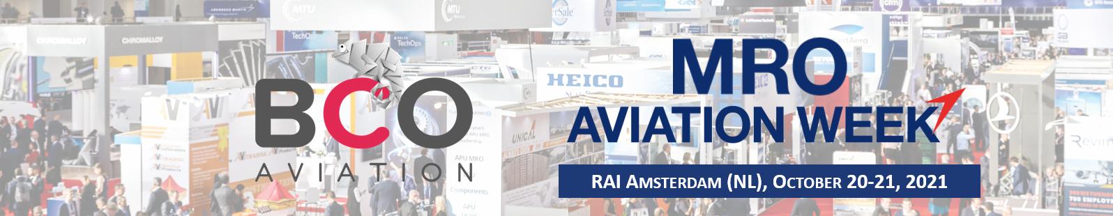 Illustration for: Meet BCO Aviation Team at MRO Europe (RAI Amsterdam)