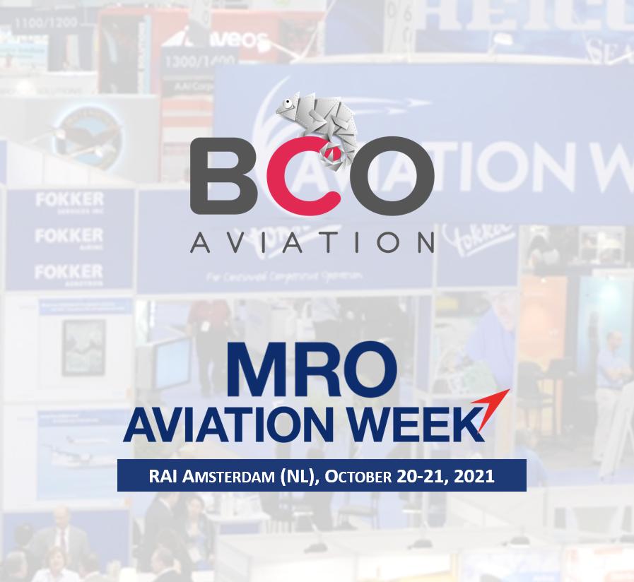 Illustration of: Meet BCO Aviation Team at MRO Europe (RAI Amsterdam)