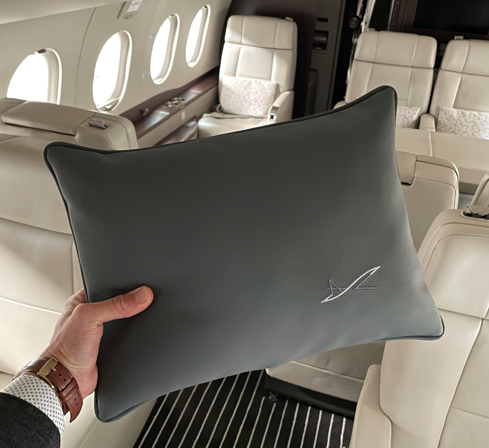 Illustration of: New Private flight pillows for ASL Group